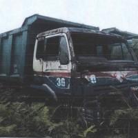 1 unit kendaraan roda 10 Merk/type Nissan/CW-520-HV Tronton Dump Truck, dalam kondisi rusak berat/scrap (besi tua)