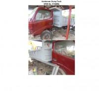 1 unit dump truck No Pol DS 9205 H, Merek Toyota, Type WU340R, Tahun 2004, Warna Merah, terletak di Kab Sorong Selatan