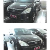BPK: 1 Unit Toyota Kijang Innova V, Tahun 2006, Warna Hitam Metalik, NoPol B 1601 VQ, an. Badan Pemeriksa Keuangan RI