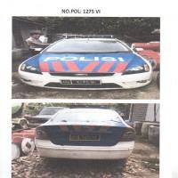 DITLANTAS.3: 1 (satu) unit kendaraan dinas 4 (empat)  Merk/type Ford Focus No.Pol 1275-VI tahun 2007