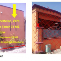 BPR Hardimas Mandiri: tanah dan bangunan SHM 2979, LT 71 M2, Desa/Kel Sonorejo, Kec Sukoharjo, Kab Sukoharjo