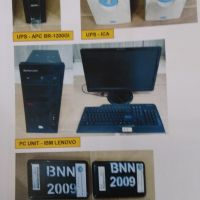 (BNN) : 1 paket BMN berupa peralatan dan mesin dalam kondisi rusak berat
