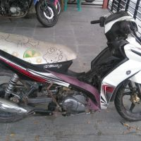 Barang Rampasan Kejari Luwu.: 1 (satu) unit Sepeda Motor Merk Yamaha Yupiter Z warna merah putih, terletak di  Kejaksaan Negeri Luwu.