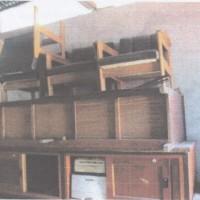 1 paket barang inventaris kantor dalam kondisi rusak berat sebanyak 24 unit