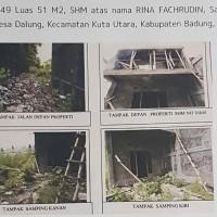 1 bidang tanah dan bangunan SHM 16849 luas 51 m2 di Desa Dalung, Kec. Kuta Utara, Kab. Badung (BPR Lestari)