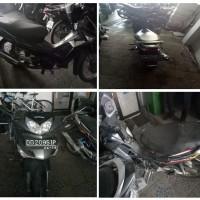 1 sepeda motor merk Honda NF 125 TD (Supra X) Tahun 2009, No.Polisi DD 2095 IP, kondisi Rusak (Jasa Raharja)