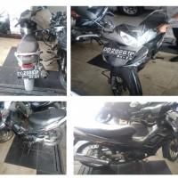 1 sepeda motor merk Honda NF 125 TD (Supra X) Tahun 2009, No.Polisi DD 2086 IP, kondisi Rusak (Jasa Raharja)