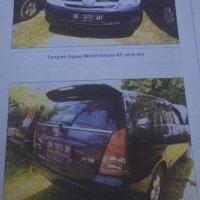 B. Lampung (7): 1 mobil Toyota Innova tahun 2007, warna Biru, Nomor Polisi: BE 1876 AH (dh BE 2376 CY), dalam kondisi baik