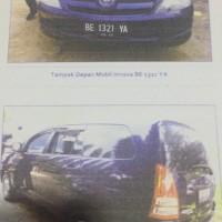 B. Lampung (9): 1 mobil Toyota Innova tahun 2007, Nomor Polisi: BE 1321 YA,dalam kondisi baik