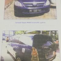 B. Lampung (11): 1mobil Toyota Innova tahun 2007, warna Biru, Nomor Polisi: BE 1526 AJ (dh BE 2377 CY),  dalam kondisi baik