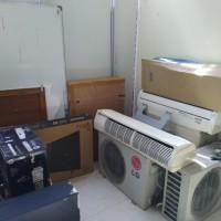 1 paket barang inventaris kantor sebanyak 18 unit dalam kondisi rusak berat