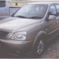 1 unit kendaraan roda 4  Merk/Type KIA/Carens, tahun 2006, Nomor Polisi DS 5198 GC