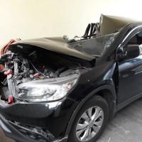 BBPPK & PKK : 1 Unit Mobil Honda CRV 2.0 MT No Pol D 1533 U th 2013 Kondisi rusak berat