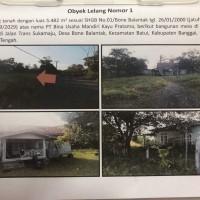 1 (satu) bidang tanah seluas 5.482 m2 terletak di Jalan Trans Sukamaju, Desa/Kelurahan Bone Balantak, Kecamatan Batui, Banggai MANDIRI