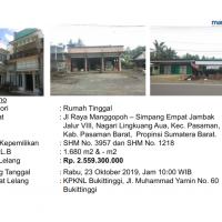 [BMRI] 3. 2 bidang tanah luas 1095 M2 & 585 M2, bangunan SHM No.3957 & SHM No.1218, di Nag Lingkuang Aua, Kec. Pasaman, Kab. Pasaman