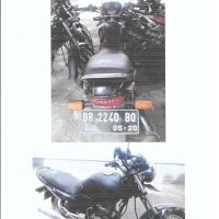 Jasa Raharja, 1 (satu) unit Sepeda Motor Merk/type Mega Pro, Nopol DR-2240-BQ