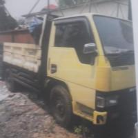 KEJARI CIBINONG 5 = 1 unit truk Mitsubishi Canter warna kuning Nopol F-8172-GS, modifikasi tangki isi solar, dijual apa adanya