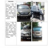 LOT 4 : 1 (satu) unit kendaraan roda 4 (empat) Toyota Avanza 1.3G GMMFJJ, Tahun 2007