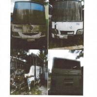 3 (tiga) unit kendaraan bermotor roda empat (6 ban)/bus medium (Isuzu 2 unit & Hyundai 1 unit) dijual satu paket kondisi scrap/besi tua