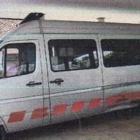 Ambulance Mercedes Benz Sprinter 413 CDI, warna silver, tahun pembuatan 2007, Nopol DK 9201 W, milik PemKab Jembrana