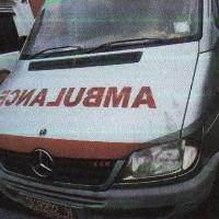 Ambulance Mercedes Benz Sprinter 413 CDI, warna silver, tahun pembuatan 2007, Nopol DK 9202 W, milik PemKab Jembrana