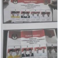 Surat Suara Pemilihan Gubemur dan Wakil Gubemur Sulawesi Selatan  Tahun 2018 sebanyak  21 Karung,  Berat  1.050 Kg,  (KPU Takalr)