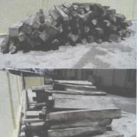 Lelang Barang Rampasan Kejaksaan Bima berupa 135 (seratus tiga puluh lima) batang kayu balok jenis sonokeling dengan volume 4,0815 m3