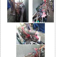 (Kemenag Barru - lot11) - 1unit kendaraan roda dua, Merk/Type : Suzuki RC 100/ Bravo , DP 6884 BC Ex : DD 6842 L Tahun 1997 rusak berat