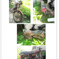 (Kemenag Barru - lot8) - 1unit kendaraan roda dua, , Merk/Type : Suzuki A 100 , No Polisi : DP.6839 B  Ex DD 4001 L, Tahun 1996, rusak berat