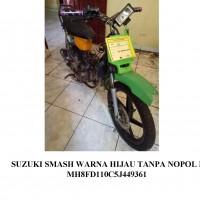 KEJARI MUBA: 1 (Satu) unit sepeda motor Suzuki smash warna hijau tanpa plat nopol