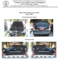LPMP - 1 (satu) unit kendaraan roda empat, merk/type Toyota XW41 (Innova E), Tahun 2005, Warna biru, Nopol DH 138 WB