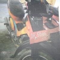 TVRI Sta. NTB: 1 (satu) Paket Sepeda Motor Yamaha Crypton, tahun 1999, NOPOL DR 5586 DAN NOPOL DR 5587