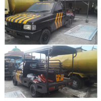 Polres.Sintang.20: 1 (satu) unit kendaraan dinas roda 4 (empat) Pick Up Merk/type Isuzu Panther No.Pol 17-31 tahun 2007