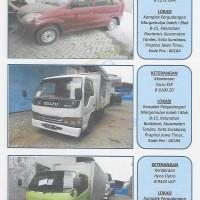 (Kurator) 3 buah kendaraan : Daihatsu Xenia B 1272 UVA, Isuzu ELF B 9100 ZD, dan  Hino Dutro B 9343 UCE