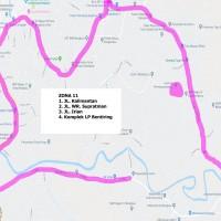 10. Zona Parkir 11 (Jalan Kalimantan, Jalan WR Supratman, Jalan Irian, Jalan Bentiring), Pemda Kota Bengkulu