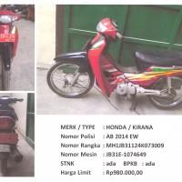 BKAD Gunungkidul 4.3: 1 (satu) unit sepeda motor merk/type HONDA KIRANA Nopol AB 2014 EW Tahun Pembuatan 2004 STNK/BPKB Ada