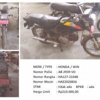 BKAD Gunungkidul 4.1: 1 (satu) unit sepeda motor merk/type HONDA WIN  Nopol AB 2939 VD Tahun Pembuatan 1988 STNK Tidak Ada