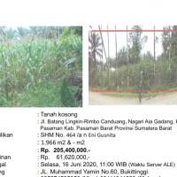 [BMRI] 1b. Sebidang tanah seluas 1.966 M2 dan turutannya,  SHM No. 464, di Nagari Aia Gadang, Kec. Pasaman Kab. Pasaman Barat