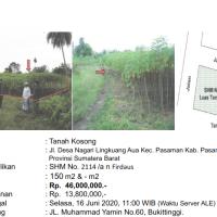 [BMRI] 2b. Sebidang tanah seluas 150 M2 dan turutannya, SHM No. 2114,  di Nagari Lingkuang Aua Kec. Pasaman Kab. Pasaman Barat
