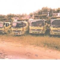 Kejari Ketapang 18: 4 (empat) unit mobil Tronton Hino dan kayu olahan