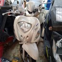 [Kejari Prabumulih]12. Satu Unit Sepeda motor merk Yamaha Mio Fino warna putih tanpa nopol (tanpa surat)