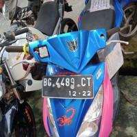 [Kejari Prabumulih]1. Satu Unit Sepeda motor Suzuki warna biru dengan BG-4489-CT (tanpa surat)