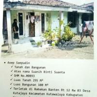BPR Saudarakita Krwg: T/B SHM No. 00893/Kutajaya, LT. 295 m2 LB 100 m2, terletak di Kel. Kutajaya, Kec. Kutawaluya, Kab. Karawang