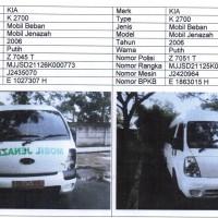 Pemda Ciamis 2. 1 paket mobil : KIA K 2700, Th.2006, No.Pol. Z 7045 T & KIA K 2700, Th.2006, No.Pol. Z 7051 T (BPKB & STNK ada)