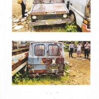 Biro SDM Polda Kalbar: Scrap/Besi Tua/Limbah Padat Toyota Kijang, No.Pol 62-VI, Tahun 2006.