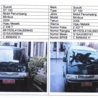 Pemda Ciamis 3. 1 paket mobil : Suzuki ST 150, Th.2004, No.Pol.Z 336 T & Suzuki ST 150, Th.2004, No.Pol.Z 337 T (BPKB & STNK ada)