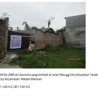 BRI Ismud3b- tanah seluas 116 m2 berikut apa yang ada diatasnyanya di Kelurahan Tanah enam ratus, Kecamatan Medan Marelan, Kota Medan