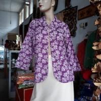 1 (satu) buah Blazer Batik Warna Ungu