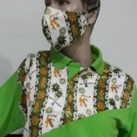 1 (satu) buah Kaos Batik  Manado Warna Hijau