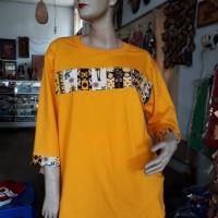 1 (satu) buah Kaos Batik manado Warna Kuning